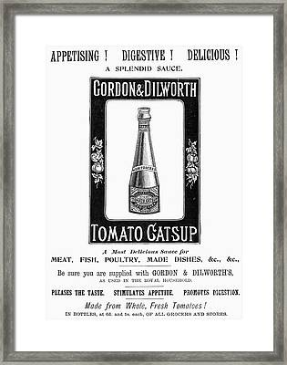 Catsup Advertisement, 1897 Framed Print by Granger