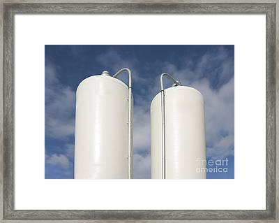 Cattle Feeding Tanks Framed Print by Jaak Nilson