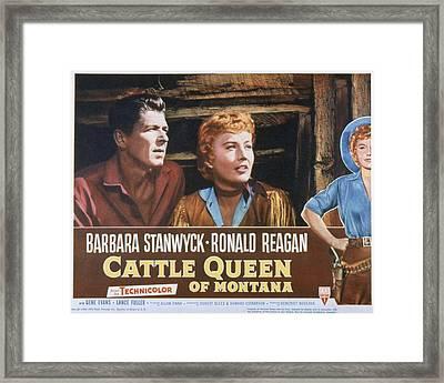 Cattle Queen Of Montana, Ronald Reagan Framed Print by Everett