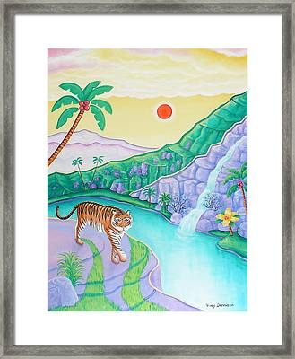 Catwalk Framed Print by Tracy Dennison