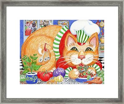 Catzi Cacciatore Framed Print by Dee Davis