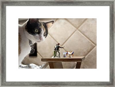 Catzilla Framed Print