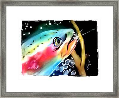 Framed Print featuring the painting Caught by Alethea McKee