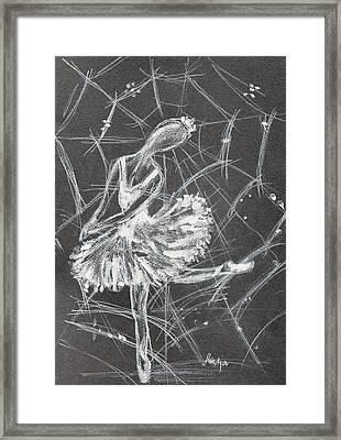Caught In A Web  Framed Print by Sladjana Lazarevic