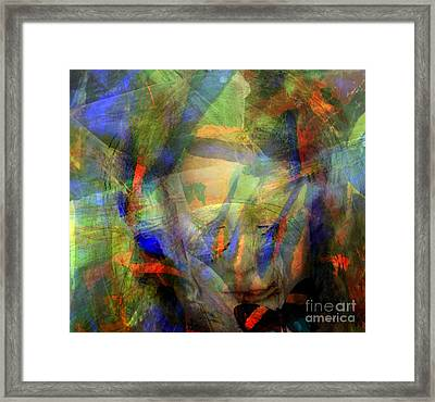 Caught In An Illusion Framed Print by Fania Simon