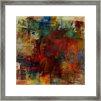 Caught In Paint Framed Print