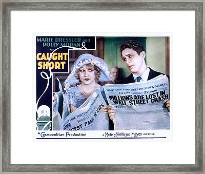 Caught Short, Anita Page, Charles Framed Print by Everett