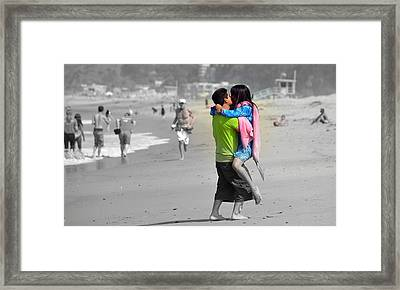 Caught Up In The Moment Framed Print by Fraida Gutovich