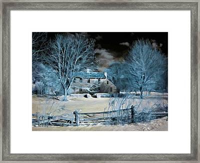 Caumsett Farm House Framed Print