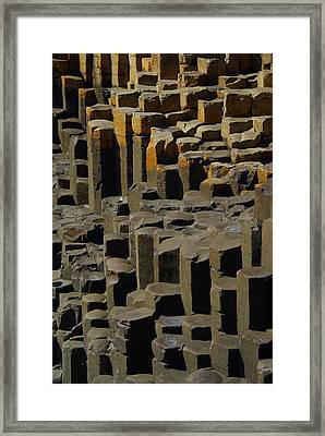 Causeway Stones Framed Print by Cat Shatwell