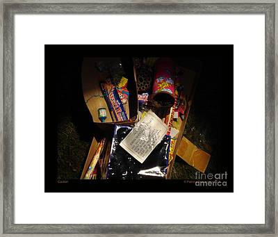 Caution Framed Print by Patricia Overmoyer