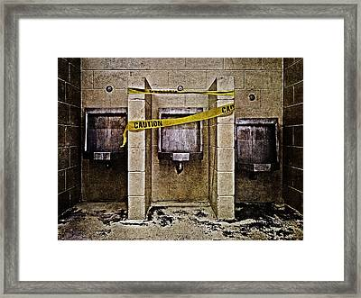 Caution Framed Print by Skip Nall