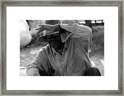 Cautious Expectation Framed Print by Elizabeth Hart
