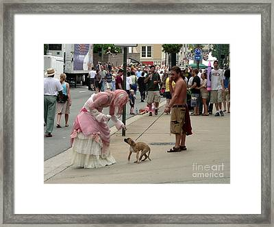 Cautious Pup Framed Print