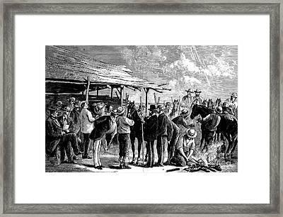 Cavalry Horses, 1876 Framed Print by Granger