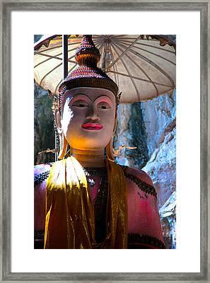 Cave Buddha Framed Print by Adrian Evans