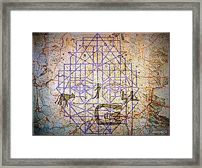 Cave Drawings Geometrized Framed Print by Paulo Zerbato