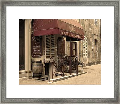 Cave Du Paradoxe Wine Shop In Beaune France Framed Print by Greg Matchick