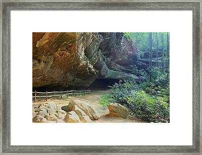 Framed Print featuring the photograph Cave Entrance by Myrna Bradshaw