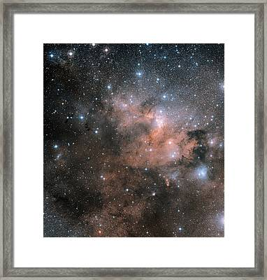 Cave Nebula (sh2-155) Framed Print by Davide De Martin