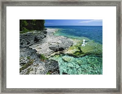 Cave Point Vista Framed Print