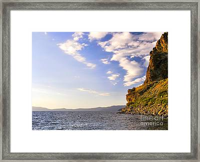 Cave Rock - Lake Tahoe Framed Print