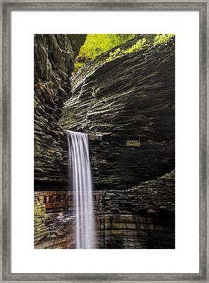 Cavern Cascade Framed Print by Mark Papke