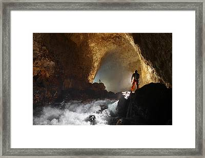 Cavers Light The Entrance Passage Framed Print