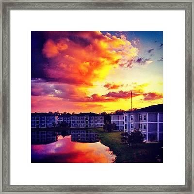 #ccu #sunset 🌇 Framed Print