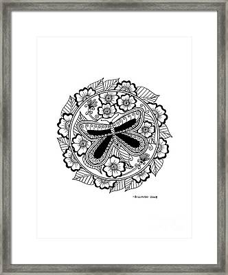 Cd 8 Black Butterfly Framed Print