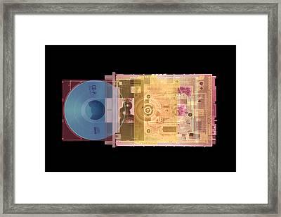 Cd Drive, Coloured X-ray Framed Print