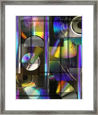 CDs Framed Print by Andrew Sliwinski