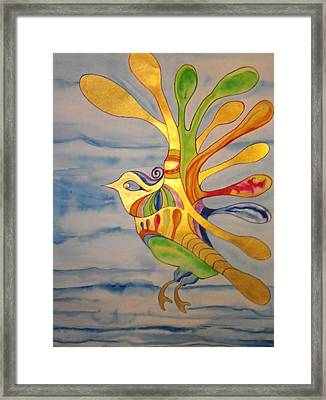 Cecilia The Psychedelic Seabird Framed Print by Erika Swartzkopf