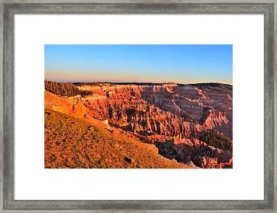 Cedar Breaks Sunset Framed Print by Mark Bowmer