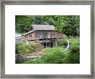 Cedar Creek Grist Mill Framed Print by Fred Russell