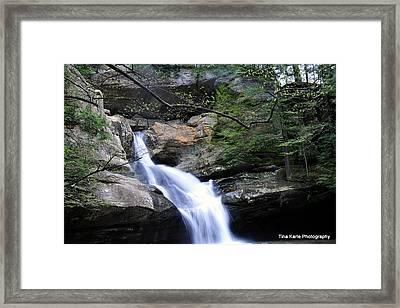 Cedar Falls Framed Print by Tina Karle