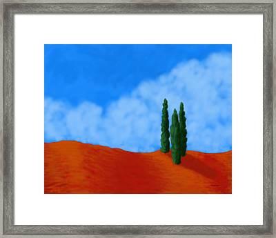 Cedar Hill Framed Print by Tim Stringer
