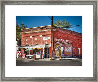 Cedarville California Grocery Store Framed Print by Scott McGuire