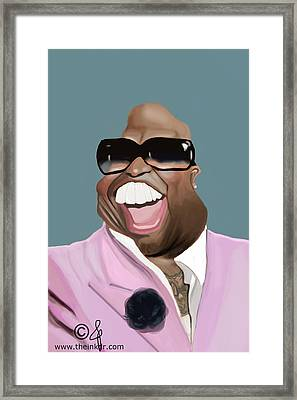 Cee Lo Green Caricature Framed Print by Jonathan Pierce