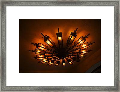 Ceiling Light At One O Clcok Framed Print by Dietrich Sauer