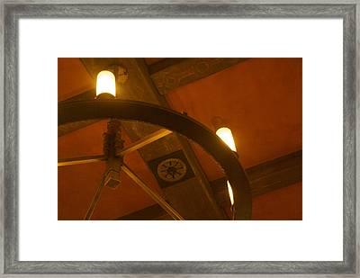 Ceiling Light Framed Print by Dietrich Sauer