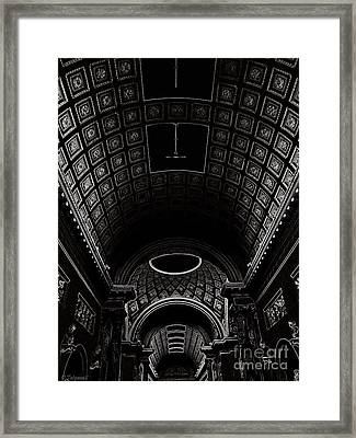Framed Print featuring the photograph Ceiling. Vatican by Tanya  Searcy