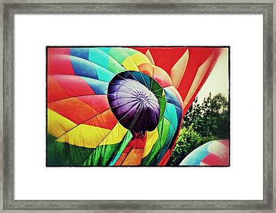 Framed Print featuring the photograph Celebrate America Balloon Fest 1 by Jim Albritton