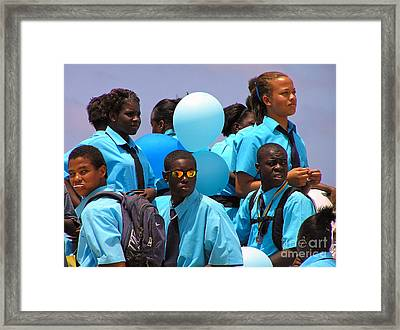 Celebrate Framed Print by Li Newton