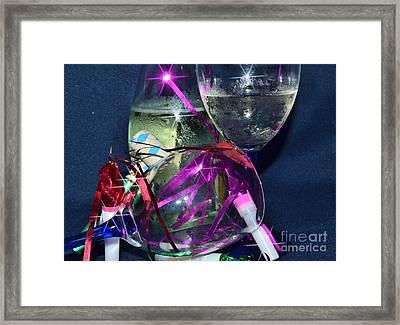 Celebrate Starry Framed Print by Lynda Dawson-Youngclaus