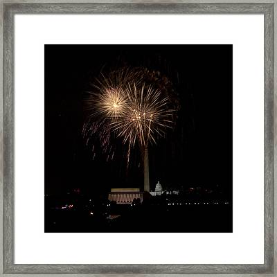 Celebrating America From The Captial Framed Print by David Hahn