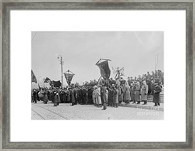 Celebrating Russian Revolution Framed Print by Photo Researchers