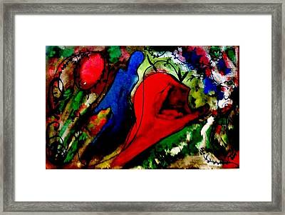 Celebration Of Life.. Be..5 Framed Print by Rooma Mehra