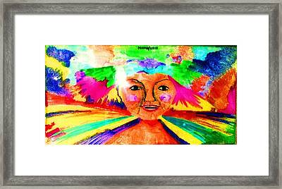 Celebration Of Life.. Be..6 Framed Print by Rooma Mehra