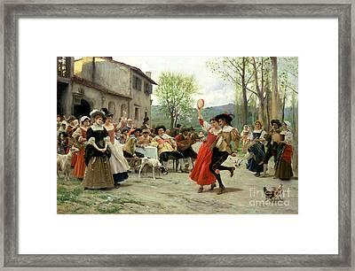 Celebration Framed Print by William Henry Hunt